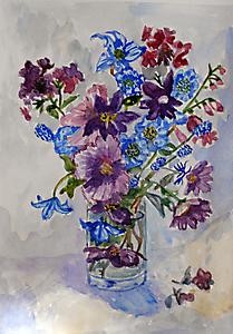 Цветы в стакане